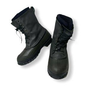 La Crosse Mens Waterproof Duck Boots Sz 9 Black